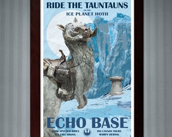 Star Wars - Hoth Travel Poster - Echo Base - 11x17