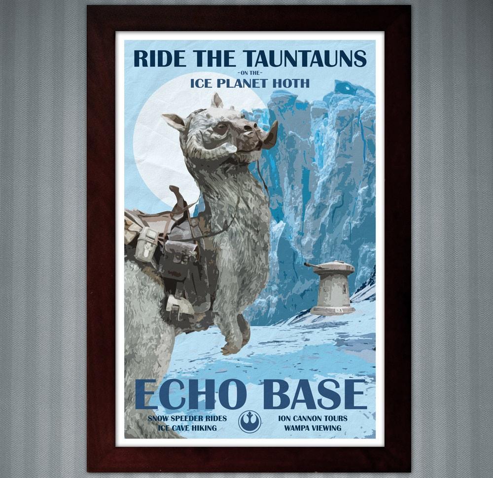 Star Wars Hoth Reisen Poster Echo Base 11 x 17