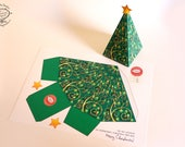 Christmas Tree DIY Printable Gift Box / Party Favor Box Easy Kids Papercraft |  Xmas Holiday Goodies | Letter A4 template Instant download