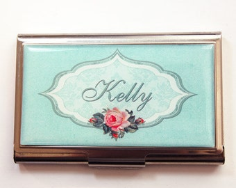 Personalized Business Card Case, Customize, Personalized, Custom Case, card case, business card holder, custom gift, gift for her (3662)
