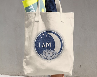 I Am Sun Moon Earth Infinity Cotton Tote Bag