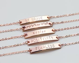 Inspirational Custom Name Bracelet Custom Bracelet Personalized Bracelet Coordinate Bracelet Personalized Jewelry - 3BR