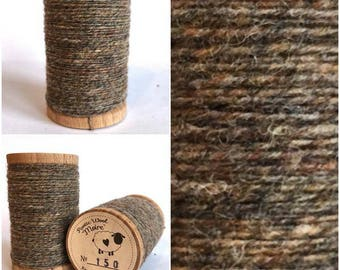 Rustic Moire Wool Thread #150 for Embroidery, Wool Applique and Punch Needle Embroidery