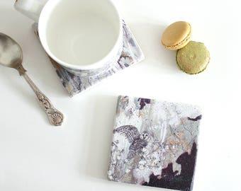 Barn Owl - Stone Tile Coaster