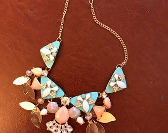 Vintage handmade bling in this lovely necklace