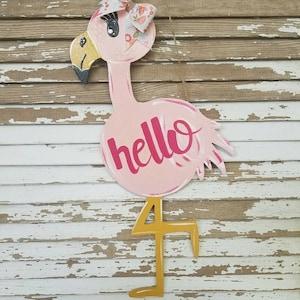 Flamingo door hanger/wall decor