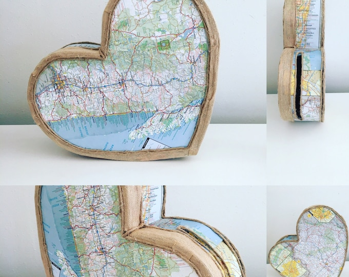 Wedding Card Box | Map Wedding Card Holder | Travel Card Box| Gift Card Box | Well Wishes Box
