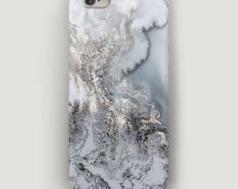 Gray Marble iPhone 7 Case, Stone iPhone 7 Plus Case, Gray iPhone Case, Galaxy S7 Case, Cell Phone Case, Marble iPhone 5 Case, Apple 6S Case