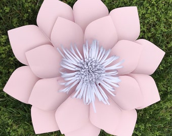 PDF Paper flower  template #1