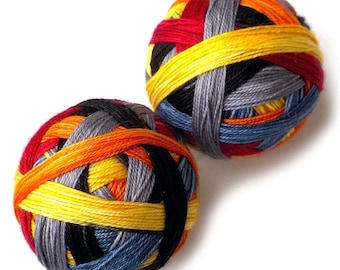 Self Striping MCN Sock Yarn Handdyed Merino Cashmere Nylon Yarn - World Cup