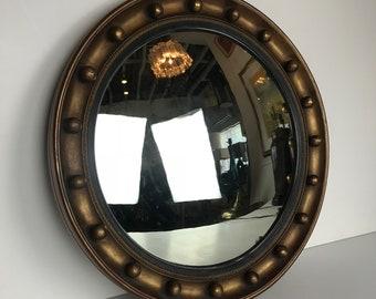 Round 1940's Gilt Frame Mirror