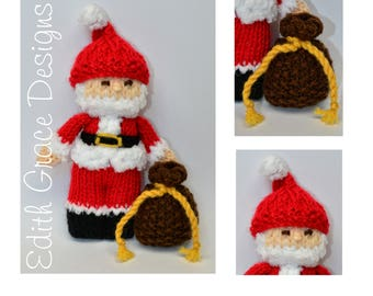 Doll Knitting Pattern - Santa Claus - Knit Doll - Christmas Doll - Toy Knitting Pattern - Christmas Decoration - Doll Making - Sewing - Toy