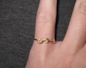 Wire Wrapped Infinity Symbol Knuckle or Regular Size Ring MADE to ORDER