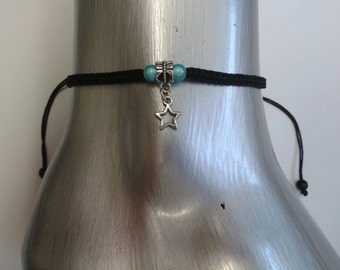 Star anklet - star charm anklet - ankle bracelet - adjustable anklet - star jewelry - foot jewelry - boho anklet - stocking filler - gift