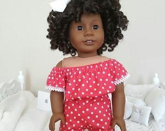 18 inch doll polka-dot romper