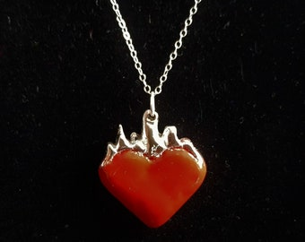 Lover Character Archetype Pewter Necklace with Charity Donation - Red