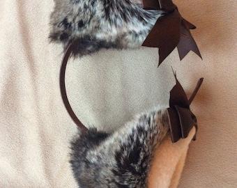 """5"""" latte kitten play ears"""