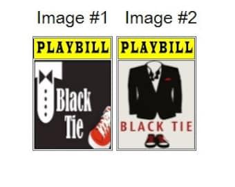 Theater / Show Charm - Playbill Play Bill - Black Tie