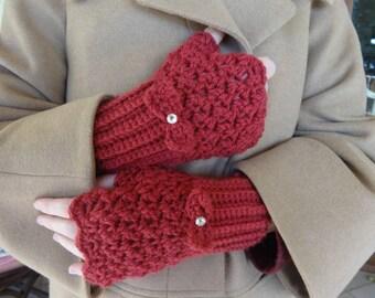 CROCHET PATTERN — fingerless gloves - crochet pattern - crochet handwarmers - wrist warmer crochet pattern