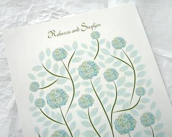 Wedding Guest book alternative - Hydrangea