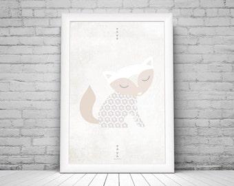 Poster {fox} - 20 x 30 cm