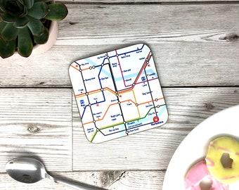 Yorkshire Underground Tube Map - Funny Coaster Drinks Mat - Yorkshire Gift
