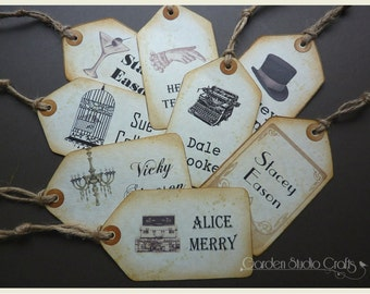 Vintage Place Name Tags, Rustic Place Cards, Wedding Tags, Place Name Cards, Wedding Name Tags, Rustic Name Cards, Table Place Cards