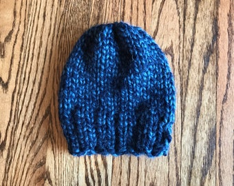 Knit Toddler Hat - Blues