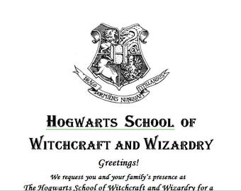 Harry Potter Acceptance Letter Invite