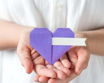 Light Purple Origami Heart Guest Name Place Card Holder White Kraft Ivory Banner Spring Fall Summer Wedding Favour Decor Lavender Theme