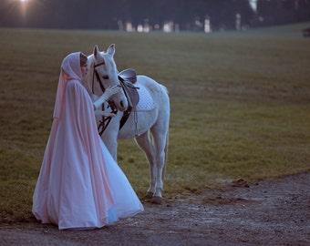 Cinderella medieval cloak, bridal cape, bridal cloak, winter wedding cape, fairy tale wedding, renaissance cape, romantic wedding cloak