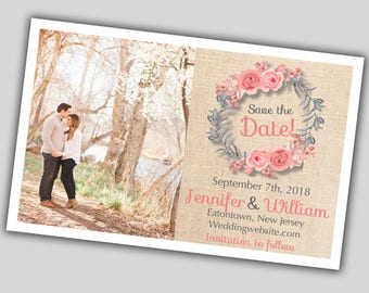 Save the date, Custom, Printable, Linen