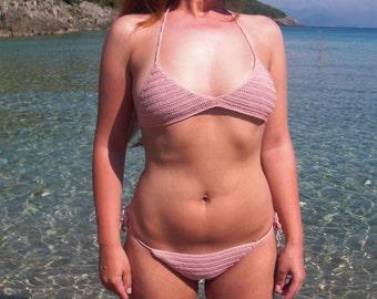 Crochet swimsuit Crochet bikini bathing suit crochet bathing suit boho bikini pink bikini crochet swimwear