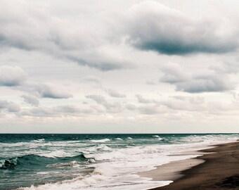 Strand-Fotografie - Winter Meer Fine Art Fotografie - Florida Ocean Druck - Atlantischen Meer - Strand-Dekor