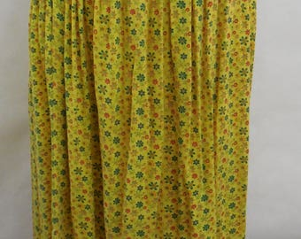 Vintage 70's Floral Print Maxi Skirt Small