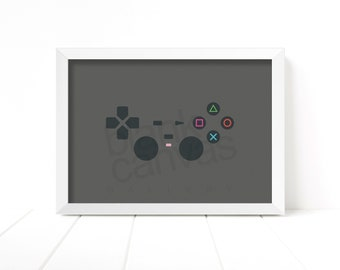 Game Pad Controller - Playstation 2 - Wall Art, Poster, Printable - Instant Digital Download