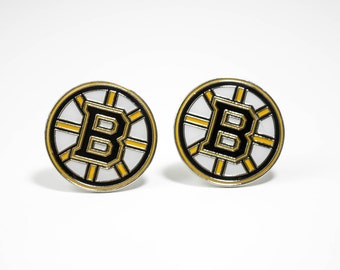 Boston Bruins Cuff Links -- FREE SHIPPING with USPS First Class Domestic Mail