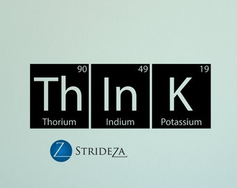 Periodic table decal etsy more colors periodic table urtaz Image collections