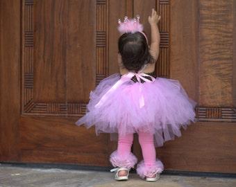 Tutu ruffle tights - Pink Tutu Ruffle Tights - Perfect photo prop, for birthday, girls pink tutu tights - all sizes 0-10