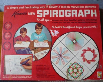 Vintage Spirograph Set Kenner 1967 Draw Patterns Design Kit