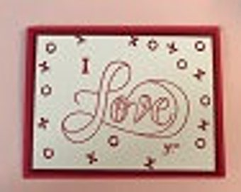 LARGE LOVE Greeting Card