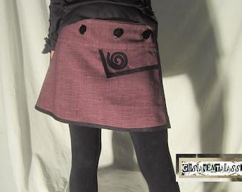 Short skirt to wallet