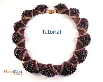 Peyote Stitch Pattern - Seed Bead Patterns - Necklace Tutorial - Beading Tutorials and Patterns - Beadweaving Tutorials - Ruffled Collar