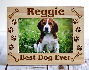 Personalized Gift Pet Frame - Personalized Pet Picture Frame Gift - Best Dog Ever Frame - Christmas Dog Frame - Pet Lover Gift