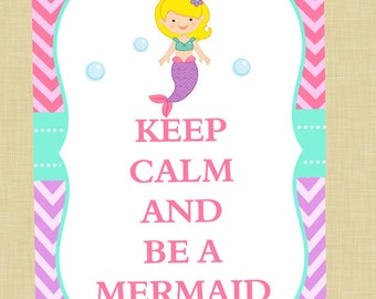 Mermaid Keep Calm Download