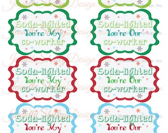 instant download...  Printable Holiday Gift Tag Soda-Lighted - So Delighted Gift Tags