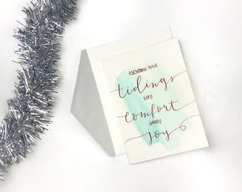 Christmas Card - Tidings of Comfort and Joy