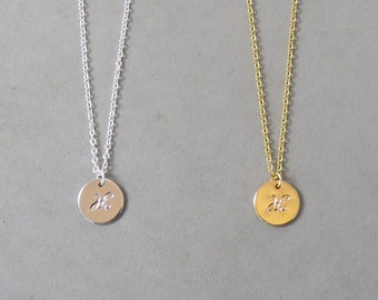 Engraved Initial H Necklace