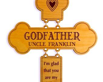 Personalized Godfather Gift- Gifts for Godfather - God Father Gift - God Parent Gift - Godparent Gift from Godson - Godchild - Cross