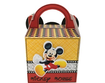 Mickey Mouse favor box, gift box, favor box with visor
